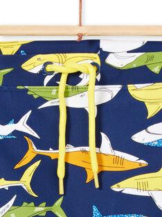 Marineblaue Badehose für Jungen LYOMERSHOREQ / 21SI02D8MAI070
