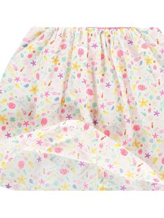 Baby girls' smocked dress CIMAROB3 / 18SG09U3ROB099