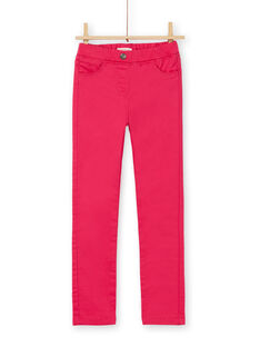 Dunkelrosa Jeggings in gefärbtem Kleidungsstück LAJOJEG2 / 21S90144D2BF507