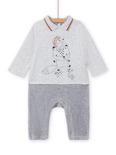 Kombination grau gesprenkelt Muster Fuchs und Igel Geburt Junge MOU1COM3 / 21WF0441CBLJ920