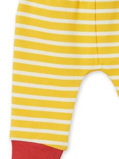 Gelb und weiß gestreifte Baumwollhose Baby Boy LUNOPAN2 / 21SG10L2PAN106