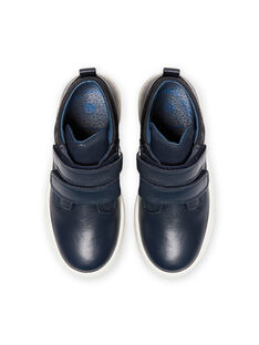Marineblaue High-Top-Sneakers Kind Junge MOBASGO / 21XK3654D3F070