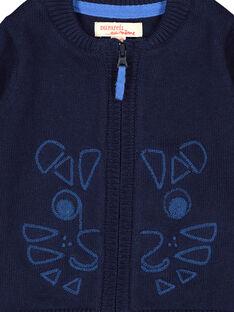 Marineblaue Baby.Weste mit Reißverschluss für Jungen FUJOGIL2 / 19SG1032GIL713