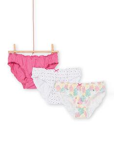 Set mit 3 rosa, gelben und ecru Höschen für Kinder und Mädchen LEFALOTSTA / 21SH1125D5L304