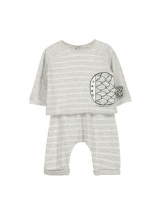 Unisex-Set aus Baumwolle für Babys FOU1ENS6 / 19SF0516ENS099