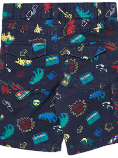 Kargo-Bermudas für Jungen mit aufgedruckten Dinosauriern und Musikinstrumenten JOGRABER2 / 20S902E2BER705