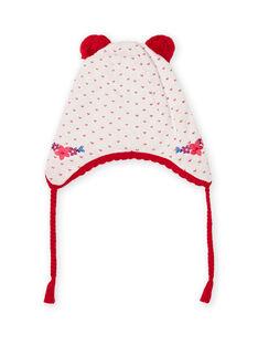 Baby Mädchen Jacquard-Strickmütze mit Bommeln MYIMIXBON / 21WI0951BON001