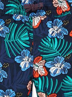 Marineblaue Bermuda-Shorts mit Blumendruck für Jungen LOBONBER3 / 21S902W2BER705