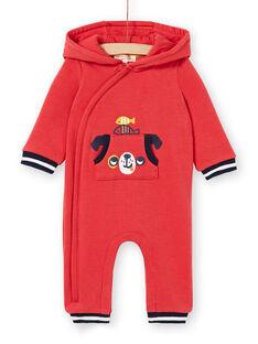 Baby Junge roter Kapuzenoverall LUNOCOM / 21SG10L1CBL410