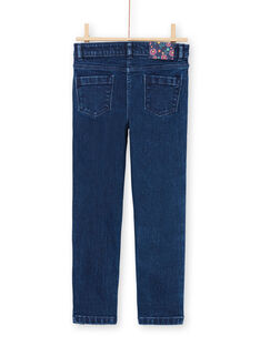 Mädchen-Jeans mit Pailletten-Streifen MATUJEAN / 21W901K1JEAP274