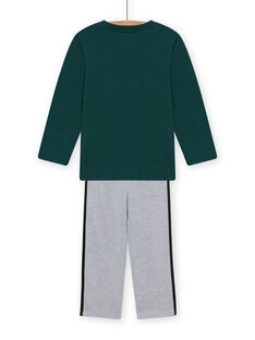 Pyjama-Set aus grünem Fleece für Kind Junge mit Auto-Motiv MEGOPYJCAR / 21WH1299PYJ060