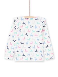 Einhorn-T-Shirt für Mädchen in Ecru und Rosa MAPLATEE3 / 21W901O2TML001