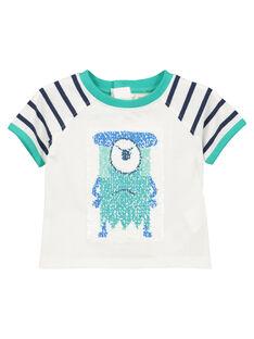 Wendbares Baby-T-Shirt für Jungen FUNETI2 / 19SG10B2TMC000