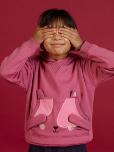 Kind Mädchen Kapuzenpulli mit Katzenanimation MAFUNSWEA / 21W901M1SWEH700