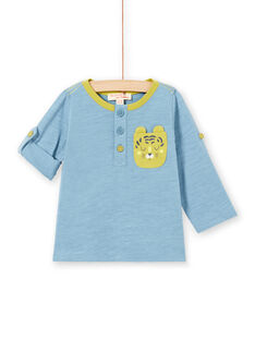 Baby Boy Blau Langarm Roll Up T-Shirt MUJOTUN1 / 21WG1021TML020