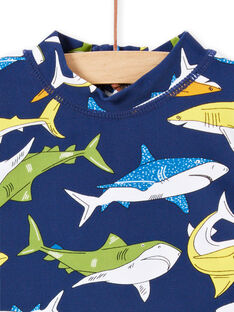 Anti-UV T-Shirt navy blau Baby Junge LYUTEEUVEX1 / 21SI10D4TUV070