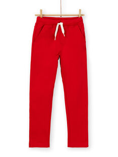 Rote Baumwollhose für Jungen LOJOPAN3 / 21S90232PAN050