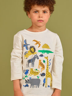 Jungen-T-Shirt in Creme MOKATEE1 / 21W902I1TML007