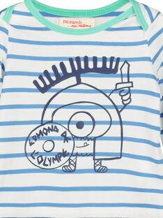 Gestreiftes Baby-T-Shirt für Jungen FUNETEE2 / 19SG10B2TML099