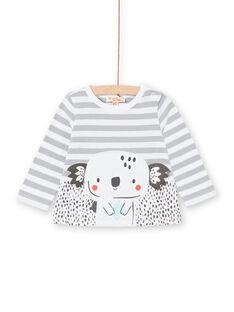 Baby Boy gestreiftes Langarm-T-Shirt LUPOETEE1 / 21SG10Y3TML001