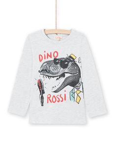 Graues T-shirt für Jungen MOJOTEE1 / 21W90228TMLJ920