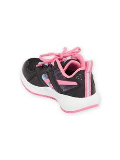 Schwarze Reebok-Sneakers mit rosa Details Kind Junge MAG57454 / 21XK3542D36090