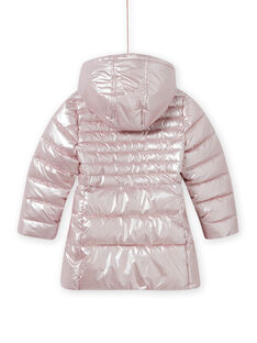 Metallic rosa wasserdichte Jacke, Kind Mädchen MALONDOUN1 / 21W90158D3ED300