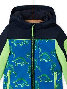 Dreifarbige Jacke mit Dinosaurier-Aufdruck MOSKIPAR / 21W902R1ANOC221