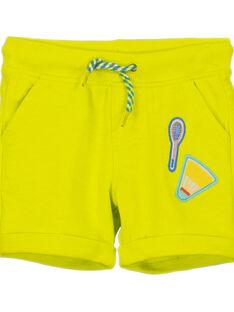 Gelbe Bermuda-Shorts für Jungen FOCABER3 / 19S902D3BER117