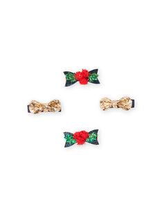 Set aus 4 sortierten Weihnachtsbirettes Kind Mädchen MYANOCLIC1 / 21WI01T8BRT955