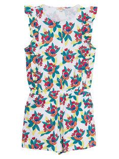 Kurzärmeliger, bedruckter Short-Jumpsuit  JAMARCOMBI / 20S901P1CBL000