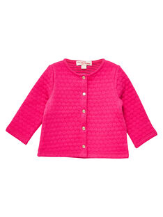 Rosa Baby-Strickjacke für Mädchen JIJOCAR2 / 20SG0952CARF507