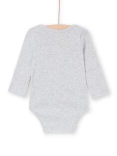 Langarm-Body für Jungen mit grauen Streifen und Teddybär LEGABODCAL / 21SH142BBDLJ922