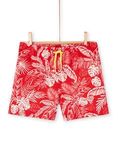 Rote Badeshorts für Jungen LYOMERBOXJUN / 21SI02D9MAI050