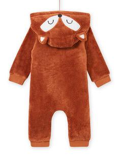 Baby Junge Fuchs-Overall mit Kapuze MUSAUCOM / 21WG10P1CBLI803