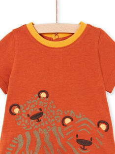 Baby Boy Ziegel & Orange T-Shirt & Shorts LUTERENS / 21SG10V1ENSF519