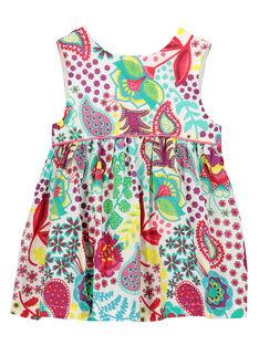 Bedrucktes Babykleid ohne Ärmel für Mädchen FICAROB1 / 19SG09D1ROB000