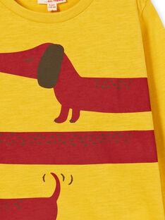 Gelbes Baumwoll-T-Shirt für Jungen LOJOTEE2 / 21S90234TML102