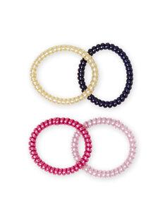 4 sortierte Glitzergummis für Mädchen MYAJOELA1 / 21WI01S4ELAH700