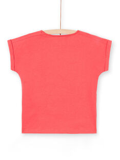 Rotes Kurzarm-T-Shirt für Mädchen LAHATI1 / 21S901X1TMCF506