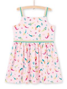 Meerjungfrau und Fantasy Druck Jersey Kleid mit dünnen Trägern LABONROB3 / 21S901W3ROBD303