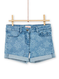 5-Pocket-Shorts mit Blumendruck LAJOSHORT2 / 21S90142D30P272