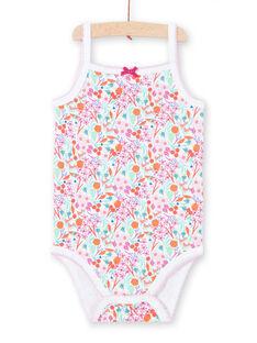 Weißes Baby Mädchen gedruckt Bodysuit LEFIBODDES / 21SH13G2BDL000