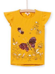 Kurzarm-T-Shirt mit magischen Pailletten LAPOETI1 / 21S901Y1TMC107