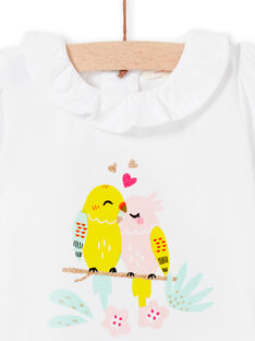 Baby Mädchen weißer Bodysuit LIBALBOD / 21SG09O1BOD000