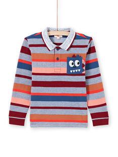 Langärmeliges Poloshirt für Jungen mit farbigen Streifen MOPAPOL / 21W902H1POL219