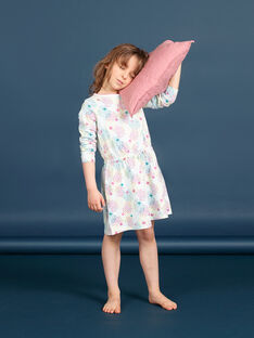 Nachthemd für Mädchen aus mehrfarbig bedrucktem Jersey LEFACHUSTA / 21SH1153CHN000