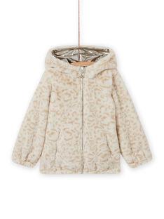Wendbare goldene Jacke mit Leopardenprint für Mädchen MAFOUDOUNE / 21W90151D3EA006