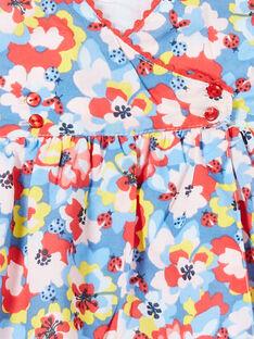 Blau und rot Baby Mädchen Blumendruck Kleid LICANROB2 / 21SG09M4ROB706