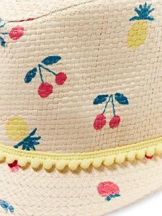 Kinderstrohhut für Mädchen LYAMERHAT / 21SI01D1CHA116